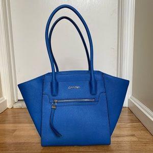 Electric Blue Calvin Klein tote bag
